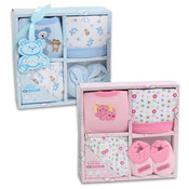 Baby Gift Set 4 Piece With Booties Assorted