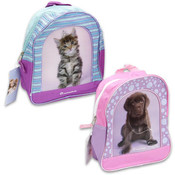 "Kittens- Puppies Assorted Backpack 11"" High"