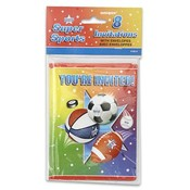 Super Sport Theme Invitations 8 Count Wholesale Bulk