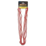 Red Bead Necklace 32' 4 Count Wholesale Bulk