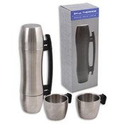Silver Thermos, 24 Oz. 3 in1 Stainless Steel
