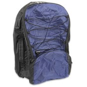 Backpack Blue-Black Polynylon 20x14x7""