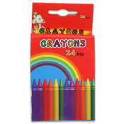 24Pc Kids Color Crayons 3.25 Inch Wholesale Bulk