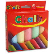 5Pc Sidewalk Chalk Bright Colors Wholesale Bulk