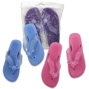 Ladies Pearl Sandals with Flower, Assorted