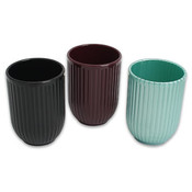 3.5' Plastic Bathroom Sink Tumbler Cup Assorted Wholesale Bulk
