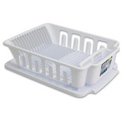 Sterilite 2 Pc Sink Dish Rack Set White Wholesale Bulk