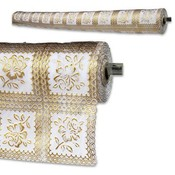 Liner Gold Rose Lace 20x54""