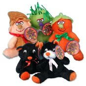 "Halloween Plush with Bow 7"" Assorted"