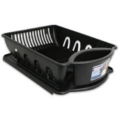 Sterilite Plastic 2Pc Dish Sink Black Wholesale Bulk