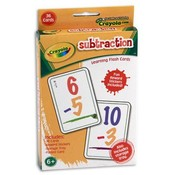 Crayola Subtraction Flashcards, 36 Count