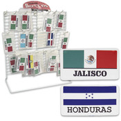 Latino Flag Magnet Plate on Rack