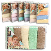 "5Pc Baby Washcloths 10"" X 10"" 100% Cotton"