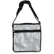 14.5'x15' Silver & Black Messenger Bag Wholesale Bulk