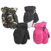 Elastic Cuff Kids Mittens Assorted Wholesale Bulk