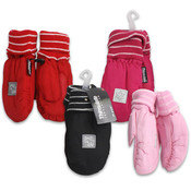 Kids Fold Cuff Mittens Assorted Wholesale Bulk
