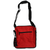 13' 2 Tone Red Expandable Messenger Bag Wholesale Bulk