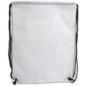 13.5'x17.5' White Nylon Cinch Bag Black Trim Wholesale Bulk