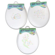 15.5' Soft Toilet Seat with Embroidery Wholesale Bulk