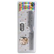 Pet Grooming Comb Brush With 2 Blades Wholesale Bulk