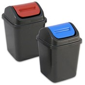 Plastic Waste Bin With Swing Lid 10.5 Inches Height