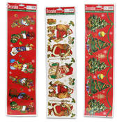 Window Decoration Santa, Tree, Stocking Wholesale Bulk