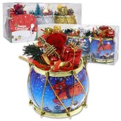Drum Ornament With Bear 3 Pieces Assorted