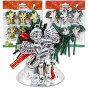 Bell Ornaments With Angel 6 Pieces