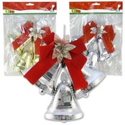 Bell Ornament With Ribbon- Flowers