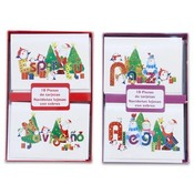 Spanish Christmas Card Foil 10 Piece Assorted