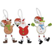 "Christmas Hanging Decoration 10"" 3 Assorted"