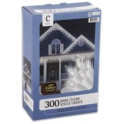 Mini Clear Icicle Lights 300 Lights