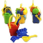 Beach Toys 7 Piece Mini Bucket Assorted