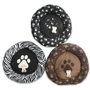 "Pet Bed,23""""D Donutwpaw Print"