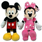 Mickey & Minnie Disney 18 Inch Plush Dolls