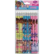 Disney Doc McStuffins 12pk #2 Pencil in Poly Bag Wholesale Bulk