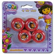 Dora The Explorer 4Pk Mini Yo Yo