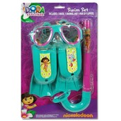Dora Explorer 3Pc Swim Fin Snorkel Mask