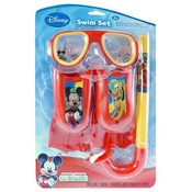 Mickey Mouse 3Pc Swim Fins Snorkel Mask