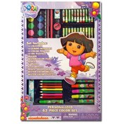 Dora The Explorer 67 Pc Kids Art Color Set Wholesale Bulk