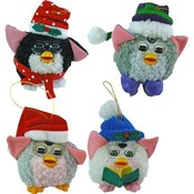 4'x3' Christmas Furby Ornament 4 Assorted Wholesale Bulk