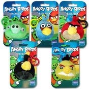 Angry Birds Plush Zipper Pull Back Pack Clip On