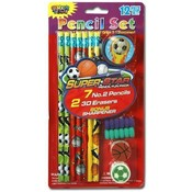 12 Pc Super Star Stationery Set Wholesale Bulk