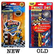 10Pc Cool Racers Stationery Set ,7Pencils Wholesale Bulk