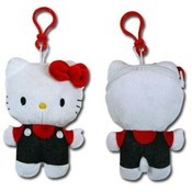 Hello Kitty Denim Plush Zipper Pull Coin Purse