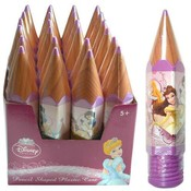 Princess Pencil Shaped Plastic Case
