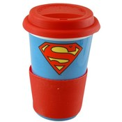 Superman Movie Porcelain Travel Mug 10 oz. Wholesale Bulk