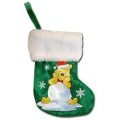 "Pooh 8"" Mini Satin Christmas Stocking"
