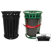 Trash Receptacle With Rain Cap-Oakley Collection
