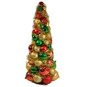 2' Multi Colored Ornament Tree Wholesale Bulk